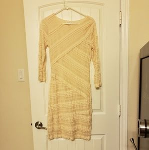 Cream lacy midi dress. Worn once, like new.